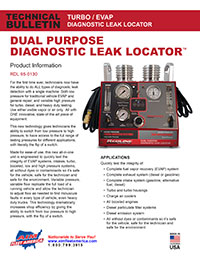 AIM Fleet America Redline Diagnostic Leak Locator Flyer