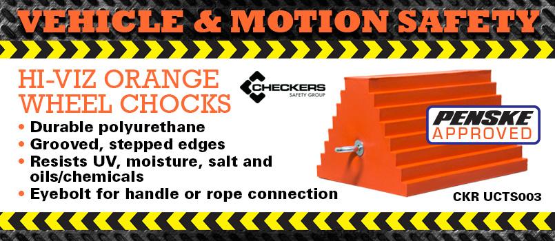 Checkers Hi-Viz Orange Wheel Chocks