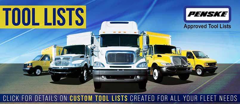Penske Approved Tool Lists