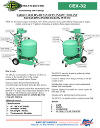 AIM Fleet America Environmentally Safe Oil Change Flyer