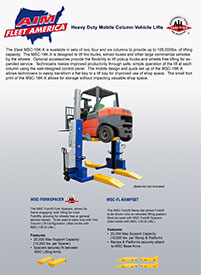 AIM Fleet America Heavy Duty Mobile Vehicle Lifts Flyer